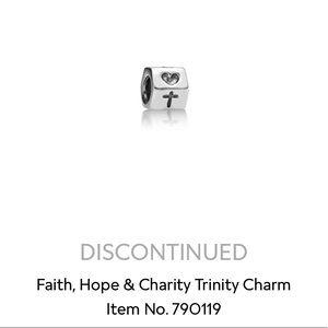 Pandora Retired Faith, Hope & Charity Charm